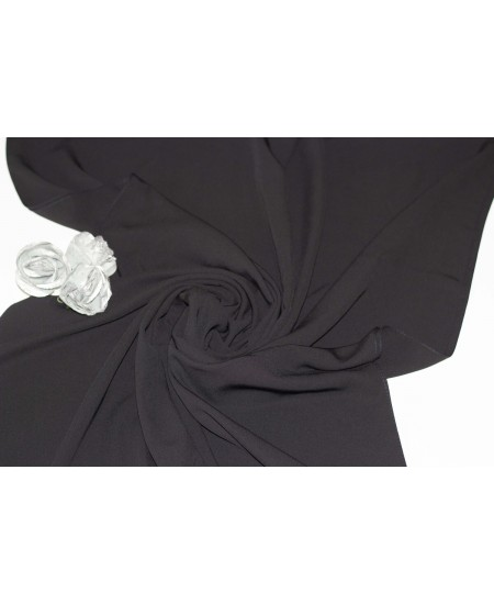 Medine Silk Shawl Black