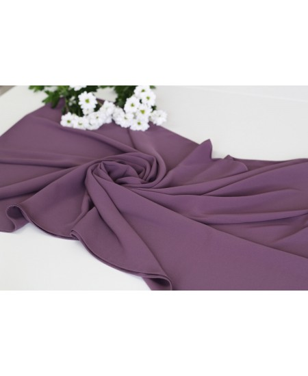 Medina silk hijab dark purple