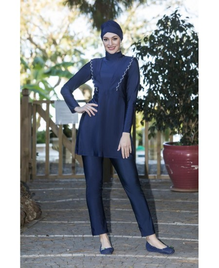 Navy blue burkini