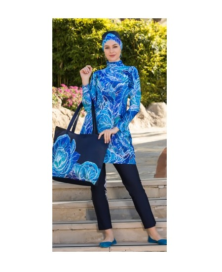 blue swimming pool Burkini